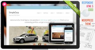 Free HTML5 Responsive WordPress Theme : SimpleCorp