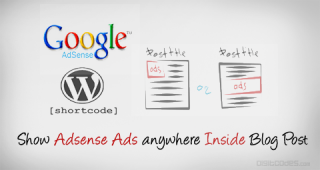 How to Easily Show Adsense Ads anywhere Inside the Blog Post
