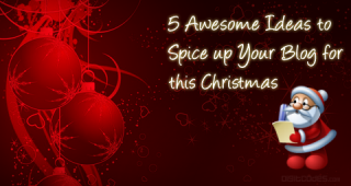 Spice up your blog for christmas