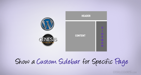 Custom Sideabr for specific pages in wordpress